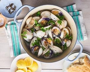 صدف دوکفه ای برای بخش دستور پخت سایت ماهی مشتا