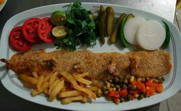 ماهی شوریده سوخاری در ماهیتابه