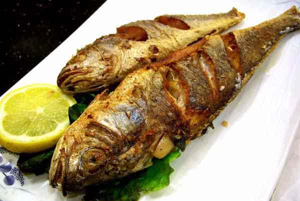 عکس ماهی شوریده در فر