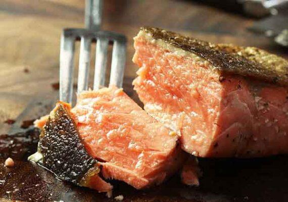 پخت ماهی سالمون کبابی