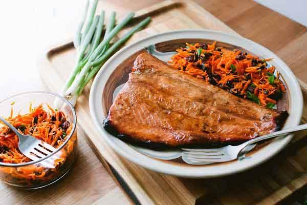 سالمون با هویج