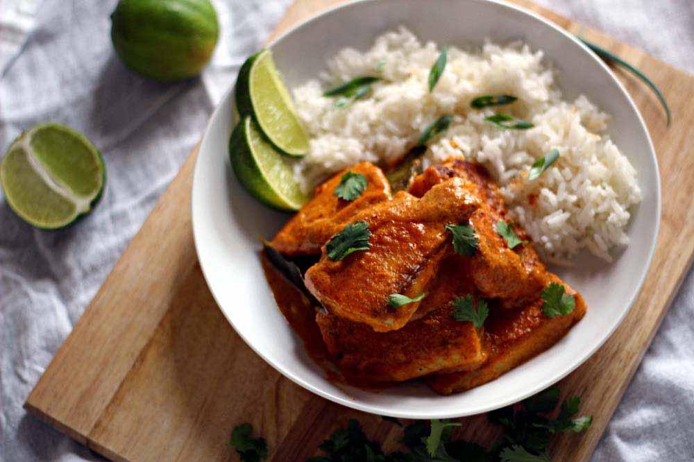ماهی سوخاری با برنج