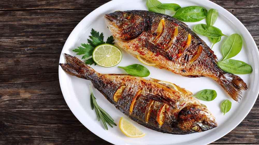 ماهی رستورانی در فر