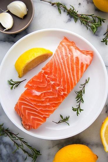 فیله ماهی سالمون مناسب بخار پز