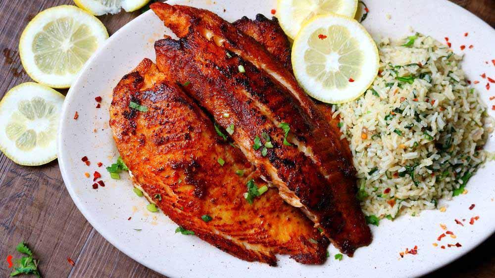 نحوه پخت شوید پلو با ماهی