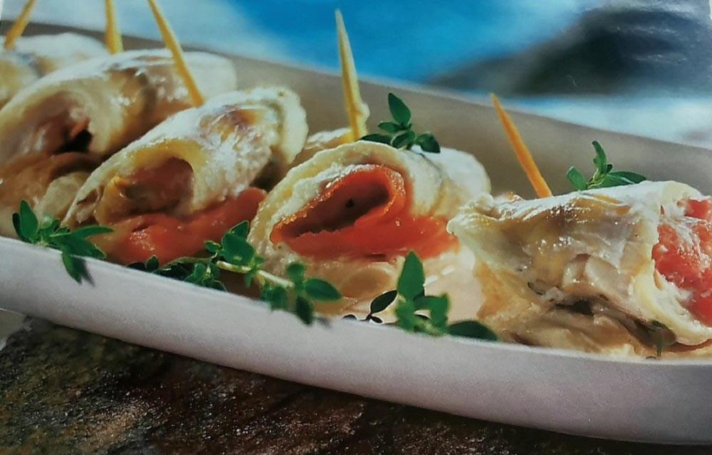 طرز تهیه ماهی کفشک رول شده